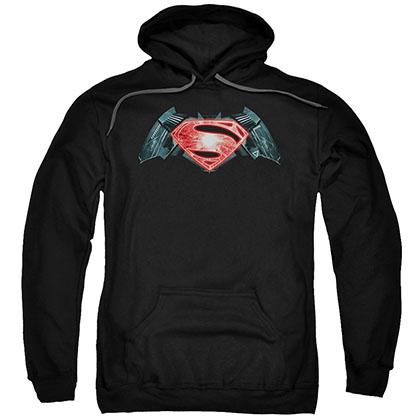 Batman v Superman Industrial Logo Black Pullover Hoodie
