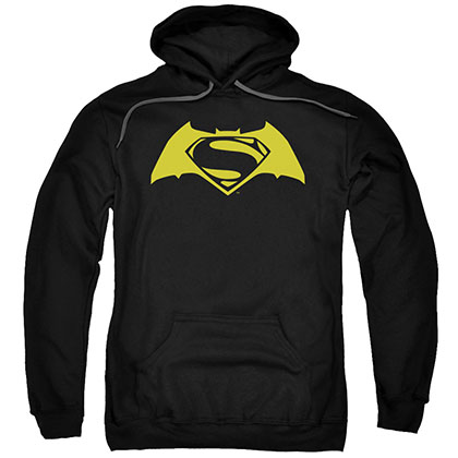 Batman v Superman Simple Logo Black Pullover Hoodie