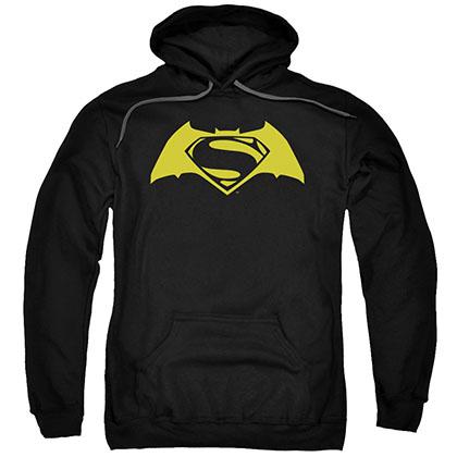 Batman v Superman Simple Logo Black Pullover Hoodie