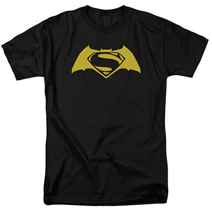 Batman v Superman Simple Logo Black T-Shirt