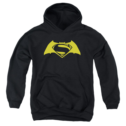 Batman v Superman Yellow Logo Youth Hoodie
