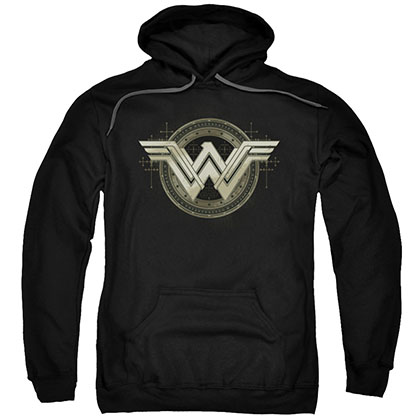 Batman v Superman Wonder Woman Emblem Black Pullover Hoodie
