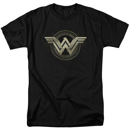 Batman v Superman Wonder Woman Ancient Emblems Black T-Shirt