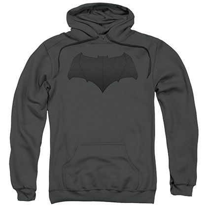 Batman v Superman Bat Logo Gray Pullover Hoodie