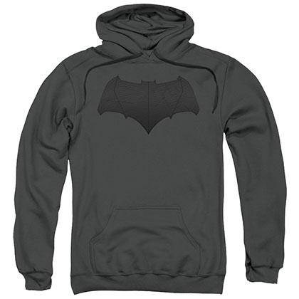 Batman v Superman Bat Logo Gray Pullover Hoodie