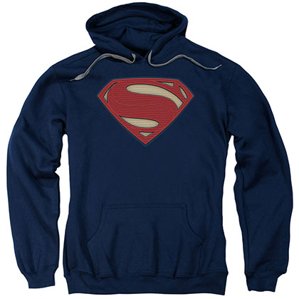 Batman v Superman Super Movie Logo Blue Pullover Hoodie