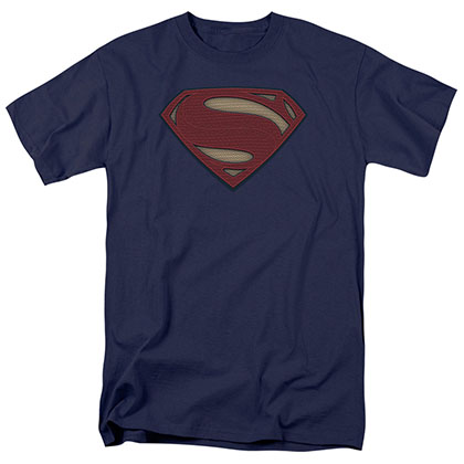 Batman v Superman Super Movie Logo Blue T-Shirt