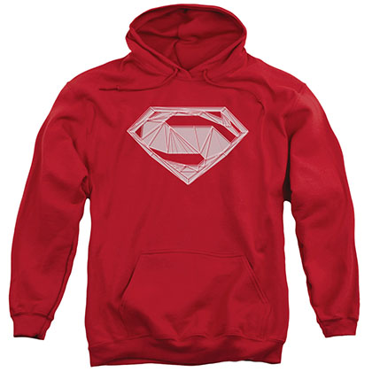 Batman v Superman Techy Logo Red Pullover Hoodie