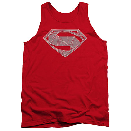 Batman v Superman Techy S Logo Red Tank Top