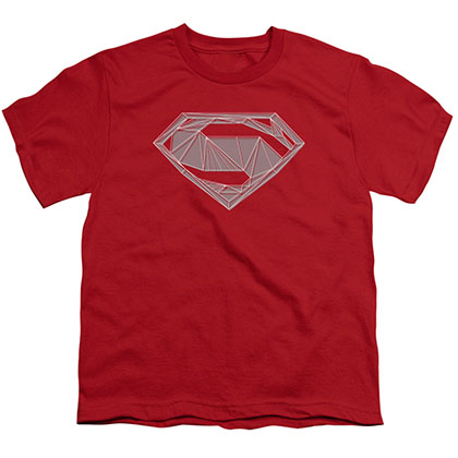 Batman v Superman Techy Logo Red Youth Unisex T-Shirt