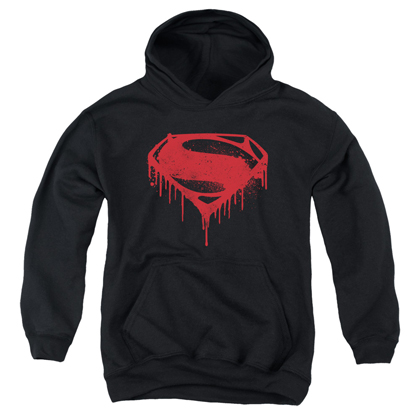 Superman Batman v Superman Splatter Logo Youth Hoodie