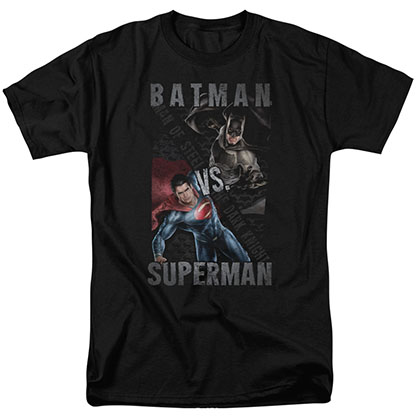 Batman v Superman Hero Split Black T-Shirt
