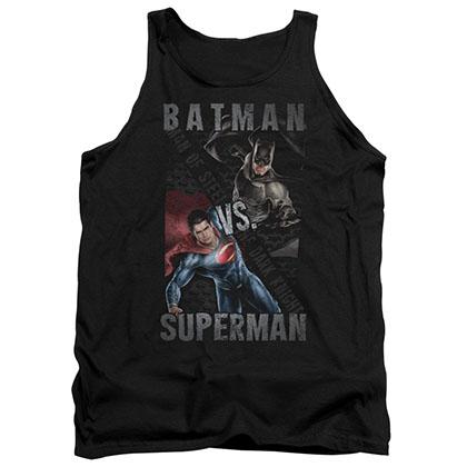 Batman v Superman Hero Split Black Tank Top