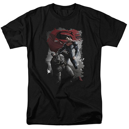 Batman v Superman Choke Black T-Shirt