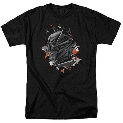 Batman v Superman Head Tech Black T-Shirt