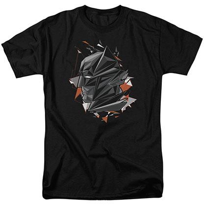 Batman v Superman Head Tech Black T-Shirt