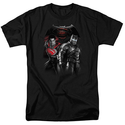 Batman v Superman Standoff Black T-Shirt