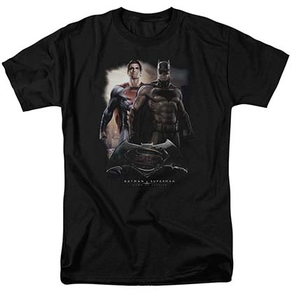 Batman v Superman Dawn Black T-Shirt
