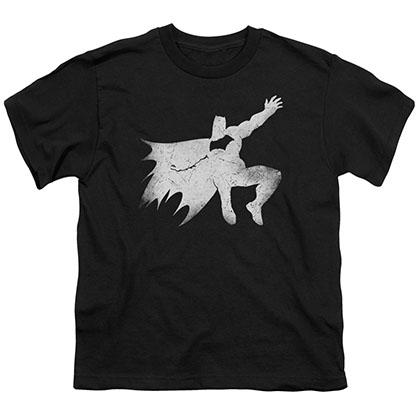 Batman v Superman Knight Silhouette Black Youth Unisex T-Shirt