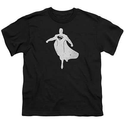 Batman v Superman Super Silhouette Black Youth Unisex T-Shirt