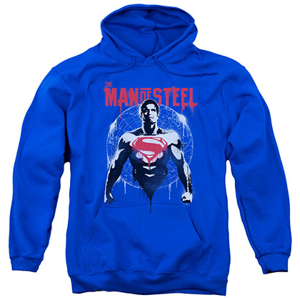 Batman v Superman Super Spray Blue Pullover Hoodie