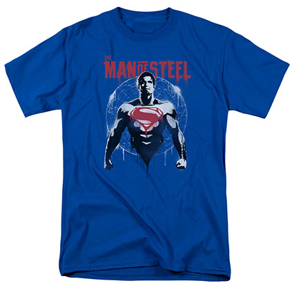 Batman v Superman Spraypaint Blue T-Shirt