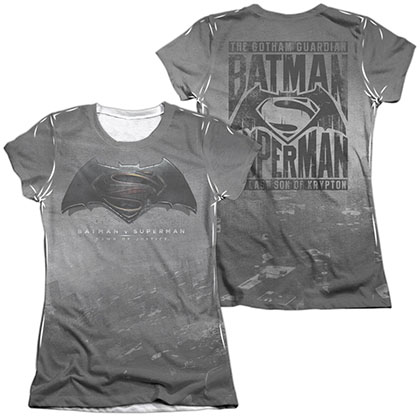Batman v Superman Logo Sublimation Juniors T-Shirt