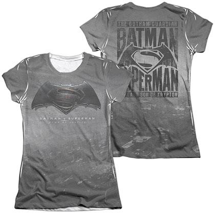 Batman v Superman Logo Sublimation Juniors T-Shirt