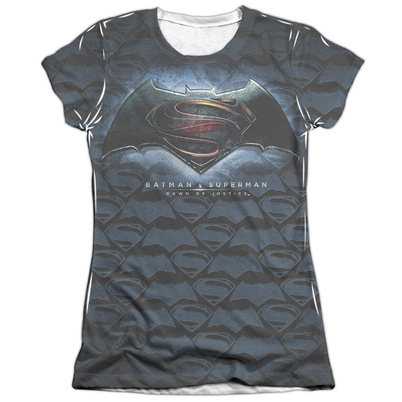 Batman v Superman Movie Logo Sublimation Juniors T-Shirt