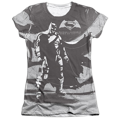 Batman v Superman Contrast Sublimation Juniors T-Shirt