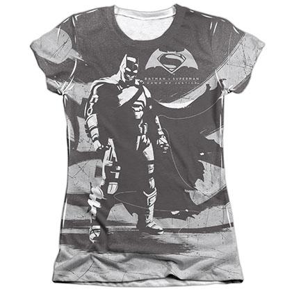 Batman v Superman Contrast Sublimation Juniors T-Shirt