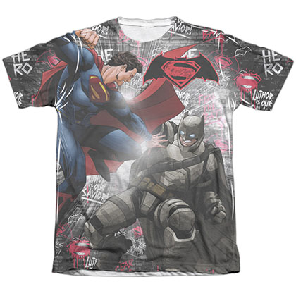 Batman v Superman Showdown Sublimation T-Shirt