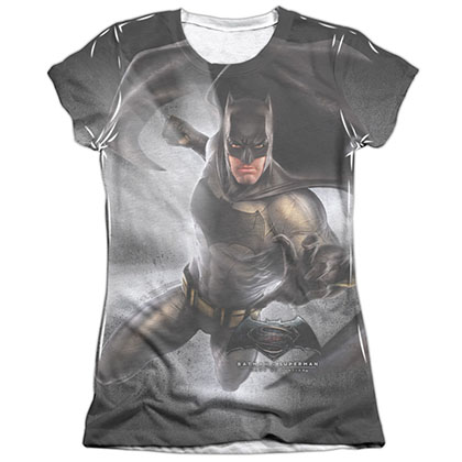 Batman v Superman Light Sublimation Juniors T-Shirt