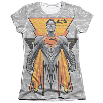 Batman v Superman Super Tech Sublimation Juniors T-Shirt