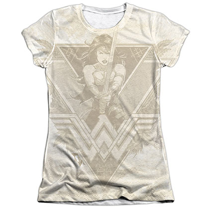 Batman v Superman Wonder Woman Goddess Sublimation Juniors T-Shirt