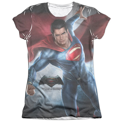 Batman v Superman Super Light Sublimation Juniors T-Shirt