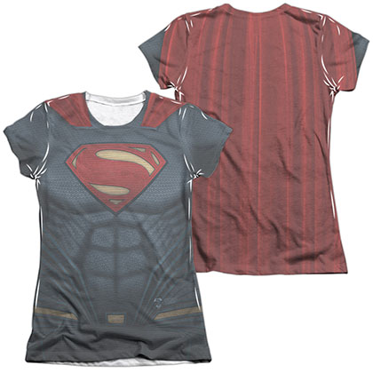 Batman v Superman Super Costume Sublimation Juniors T-Shirt
