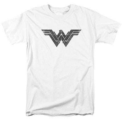 Batman v Superman Wonder Woman Logo White T-Shirt