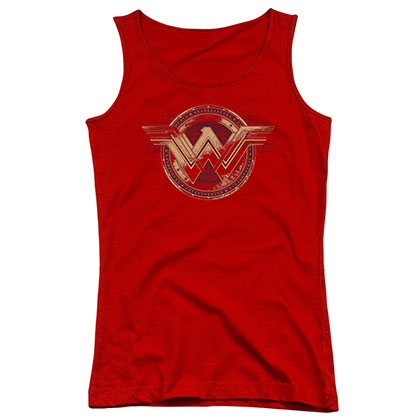 Batman v Superman Wonder Woman Shield Juniors Tank Top