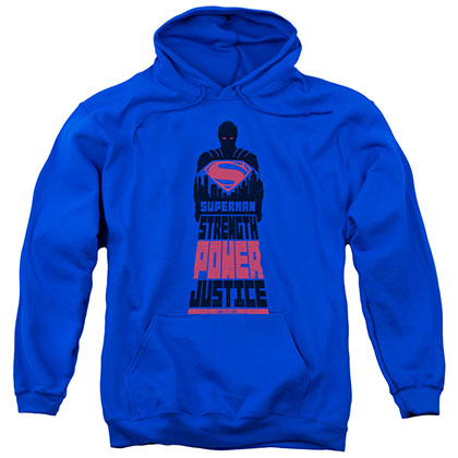 Batman v Superman Justice Blue Pullover Hoodie