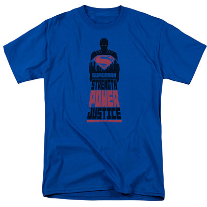Batman v Superman Super Justice Blue T-Shirt