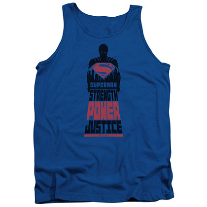 Batman v Superman Justice Blue Tank Top