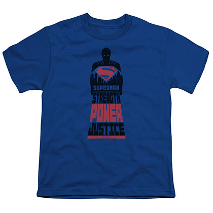 Batman v Superman Justice Blue Youth Unisex T-Shirt