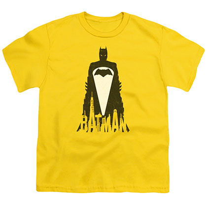 Batman v Superman Bat Justice Yellow Youth Unisex T-Shirt