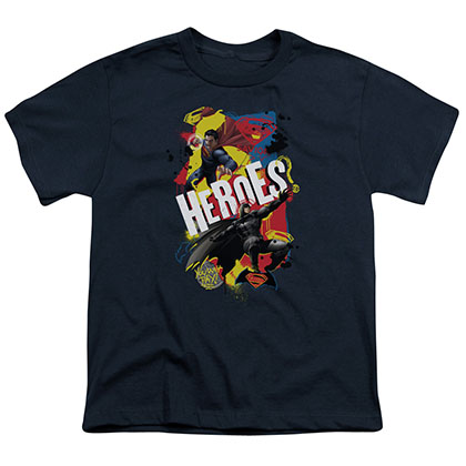 Batman v Superman Heroes Blue Youth Unisex T-Shirt