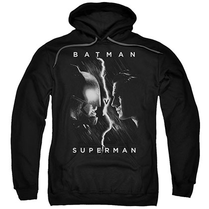 Batman v Superman Face To Face Black Pullover Hoodie