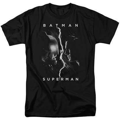 Batman v Superman Face To Face Black T-Shirt
