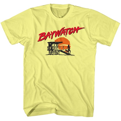 Baywatch Beach Logo Yellow Tshirt
