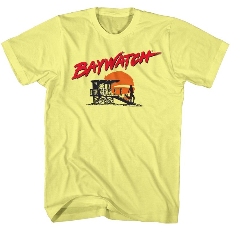 Baywatch Beach Logo Yellow Tshirt