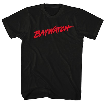 Baywatch Logo Black Tshirt